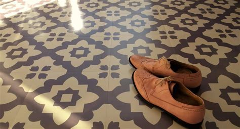 Casablanca Grey Vinyl Floor Tiles: Moroccan Style Vinyl