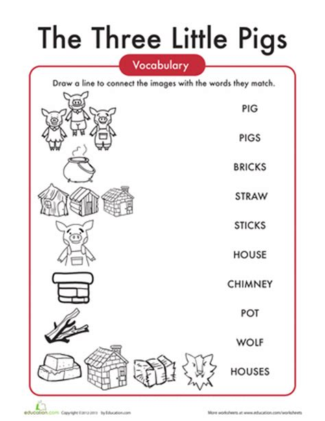 the three little pigs preschool activities the three pigs words worksheets third and 753