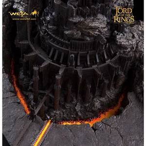 Scale Model Comparison Chart Lord Of The Rings Diorama Barad Dur Fortress Of Sauron 53cm