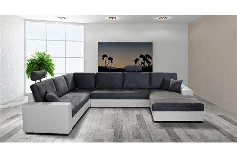 canap駸 convertibles design grand canape en u maison design modanes com