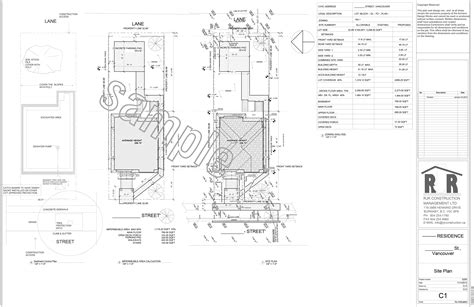 sample drawings rjr construction group vancouver