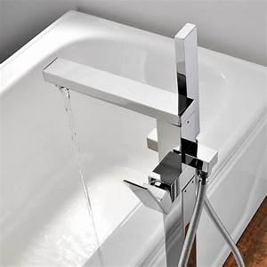 Mitigeur Pour Baignoire Ilot : robinet mitigeur cascade sur pieds cadere pour baignoire ~ Edinachiropracticcenter.com Idées de Décoration