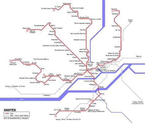 chambre hotes nantes carte des itinéraires de tram nantes carte typographique