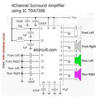 Making Surround Amplifier Tda Channel Home Audio