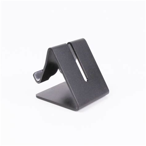 mobile press register circulation desk aluminium desk stand for phones small tablets black