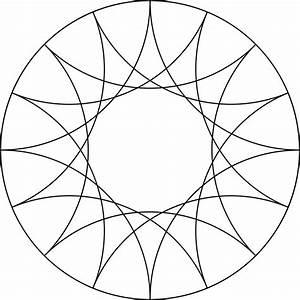 Reflected Arcs Of 4 Circles In A Circle