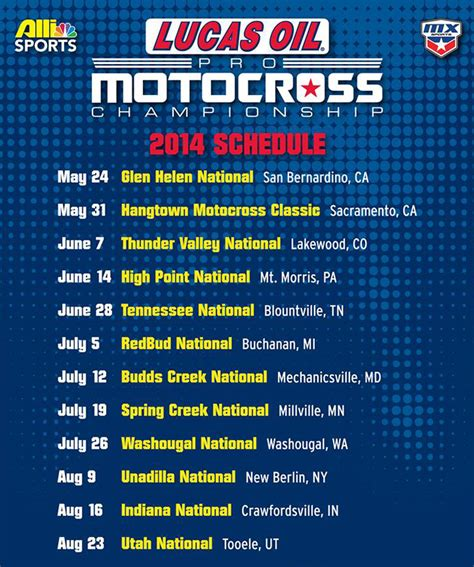 ama motocross tickets 2014 lucas oil ama pro mx chionship calendar transmoto