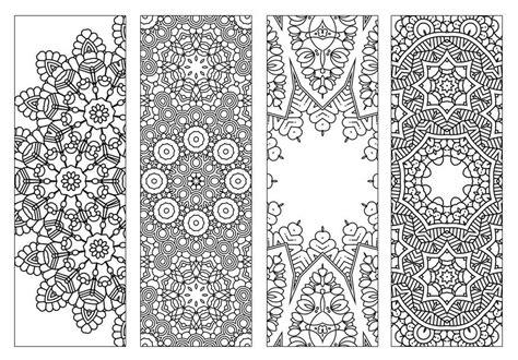 4 bookmarks printable intricate mandala coloring pages instant pdf mandala doodling
