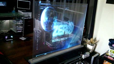 transparent holographic screen game play youtube