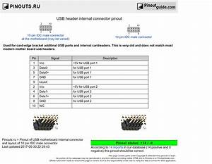 Single Usb Wiring Diagram Motherboard