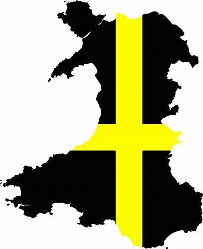 Flag Wales David Map Davids Commons Wikimedia