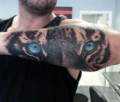 tiger eyes tattoo designs  men realistic animal