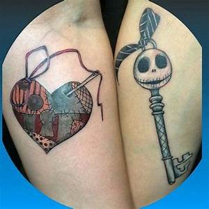 Jack and Sally lock and key | My Body is a Canvas ...