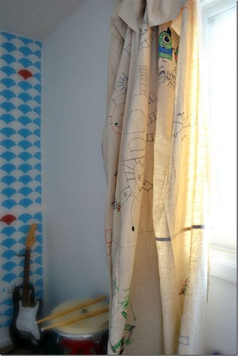 Fabric For Curtains Diy by Drop Cloth Curtains A Great Kid S Room Idea