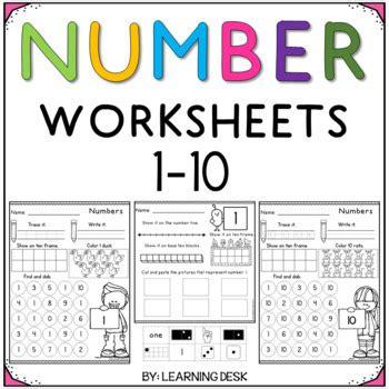 number recognition 1 10 number sense worksheets by learning desk
