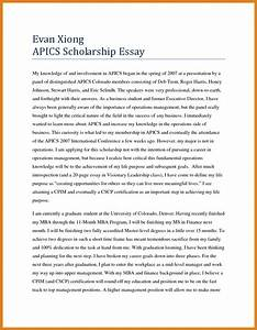 Example Of A Term Paper 002 Scholarship Essay Format Example Examples Free Pdf