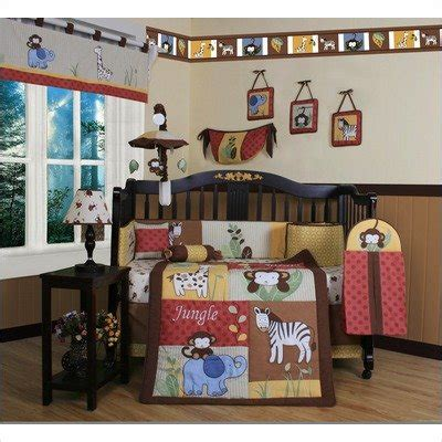 geenny boutique crib bedding set beautiful jungle animals 13 walmart