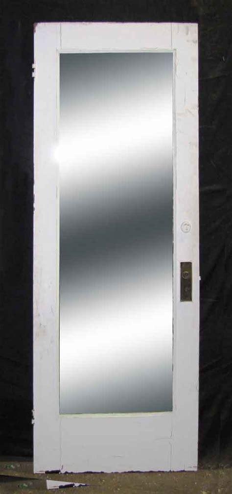 single panel door with length mirror olde things