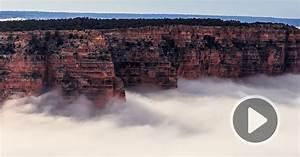 Timelapse video captures rare full cloud conversion inside for Timelapse video captures rare full cloud conversion inside the grand canyon
