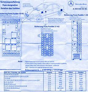 Mercedes Benz C240 2001 Fuse Box  Block Circuit Breaker Diagram