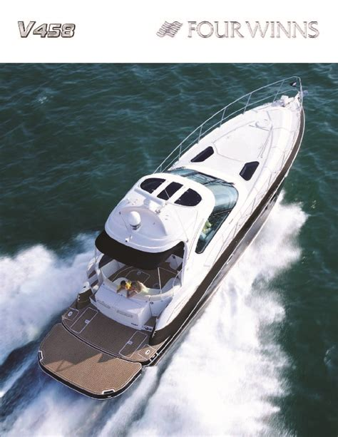 Four Winns Boat Owners Manual by 2008 Four Winns V458 Boat Owners Manual