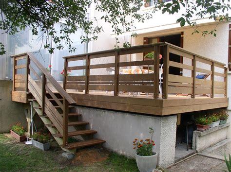 nivrem terrasse bois sans hauteur diverses id 233 es de conception de patio en bois pour