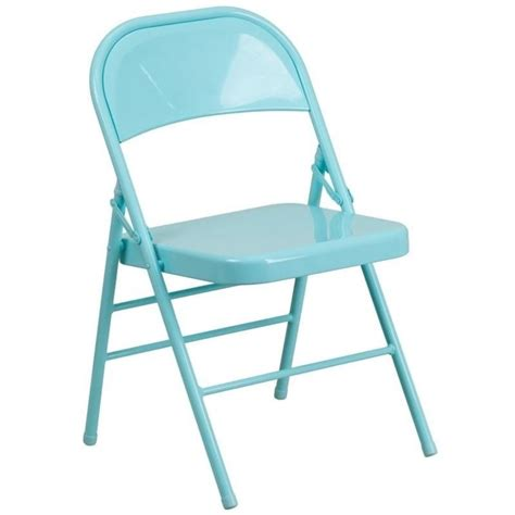 metal folding chair in teal hf3 teal gg