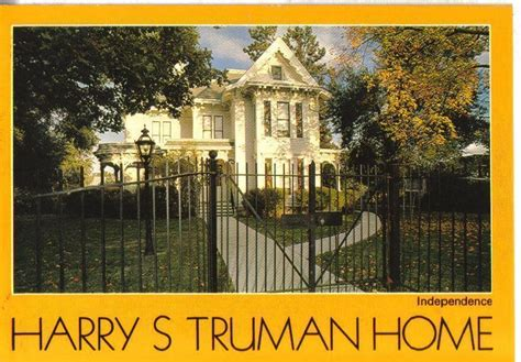 harry s truman home independence missouri postcard