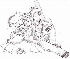 Anime Fan Couple Dress Up Manga Coloring Pages Coloring