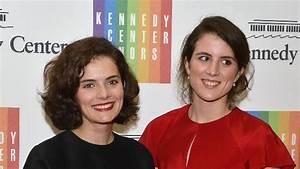 Sisters Rose Schlossberg and Tatiana Schlossberg attend ...