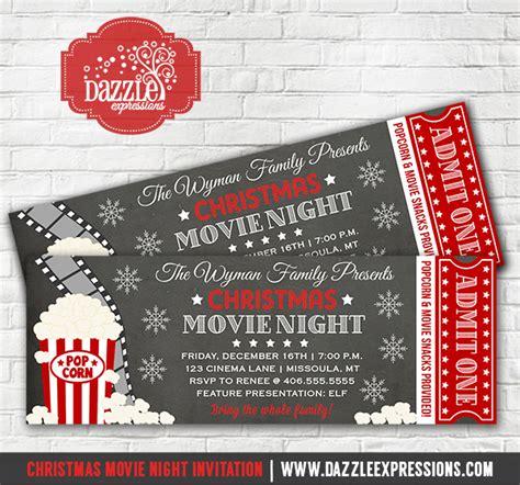 printable christmas  night chalkboard ticket