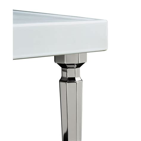console sink with chrome legs kohler kathryn octagonal console table legs 2 pack in