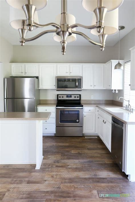 rental house reveal grey kitchen walls agreeable