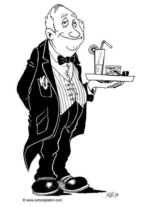 coloring page butler  printable coloring pages img