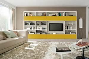 Meuble De Rangement Salon : meuble mural salon offrant beaucoup d espace de rangement ~ Dailycaller-alerts.com Idées de Décoration