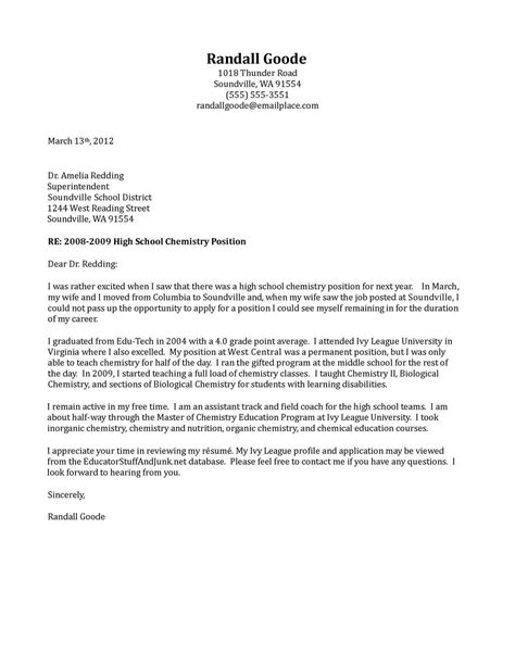 cover letter template high school  cover letter