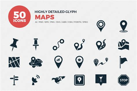 31,341 best map icon ✅ free vector download for commercial use in ai, eps, cdr, svg vector illustration graphic art design format.map, icons, location icon, compass icon, map pin, map symbols, travel icons, gps icon, world map almost files can be used for commercial. Glyph Map Icons Set