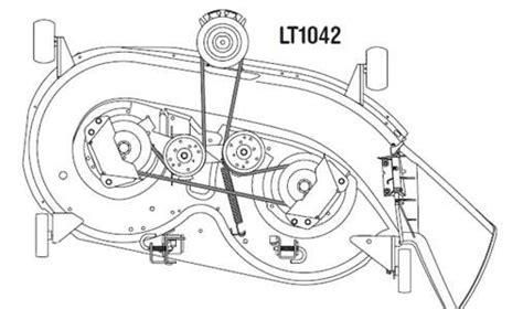 Cub Cadet Ltx 1000 Mower Deck Diagram by Solved How To Install Mower Belt On A Cub Cadet Fixya