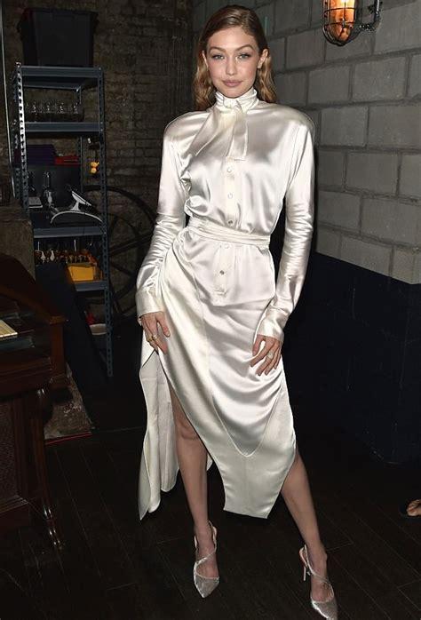 Gigi Hadid wearing Vivienne Westwood at the Victoria's ...