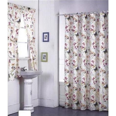 floral butterflies   shower curtain fabric