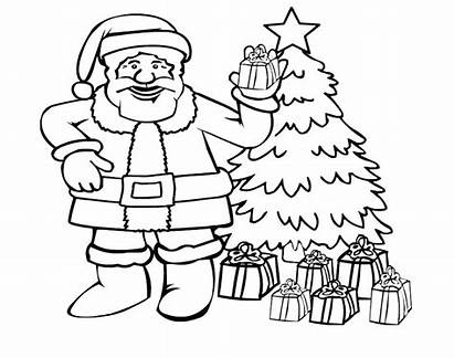 Sleigh Santa Coloring Printable Pages Getcolorings