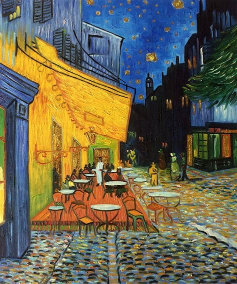 tableau de gogh la chambre gogh café terrace at painting luxury line
