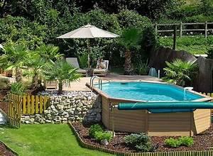 6 idees d39amenagement pour votre piscine hors sol With attractive terrasse en bois pour piscine hors sol 7 installer une mini piscine