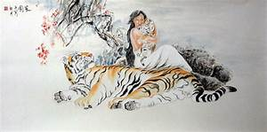 Chinese Tiger Painting 4695006, 66cm x 136cm(26〃 x 53〃)