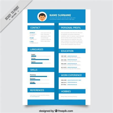 Timeline Resume Design by Blue Timeline Resume Vector Premium
