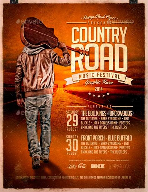country poster template best 20 country and western style flyer templates