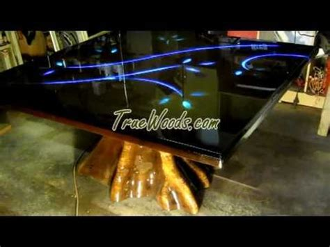 solid wood tree table true wood design youtube