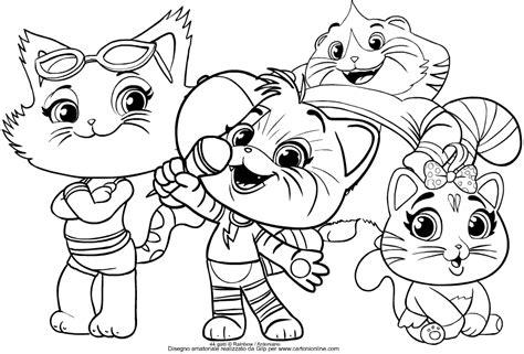 disegni da colorare 44 gatti polpetta disegno gruppo dei buffycats dei 44 gatti da colorare
