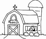 Barn Coloring Farm Clipart Clip Scene Outline Pages Horse Drawing Barns Cartoon Transparent Library Clipartix Cliparts Kid Farmhouse Shed Cliparting sketch template