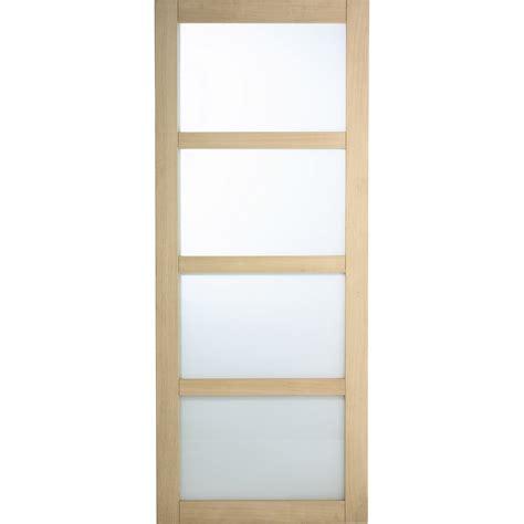 porte de cuisine seule porte coulissante chêne plaqué marron artens 204 x